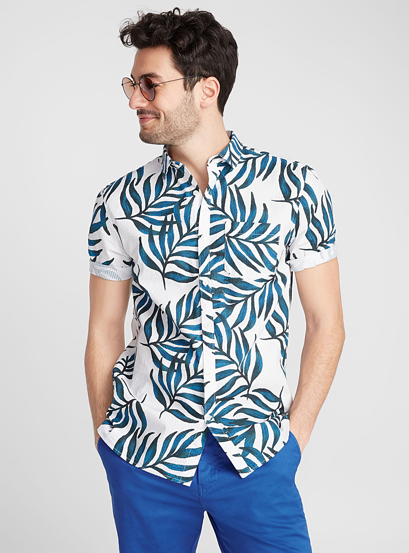 Exotic shirt  Semi-tailored fit - Patterns - Teal