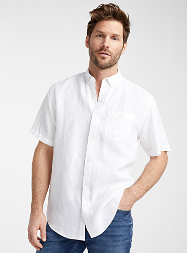 End-on-end pure linen shirt <br>Comfort fit