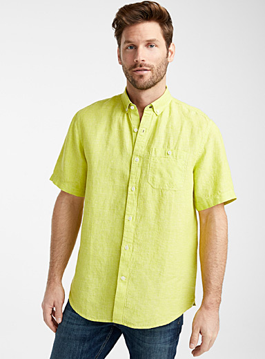 End-on-end pure linen shirt  Comfort fit