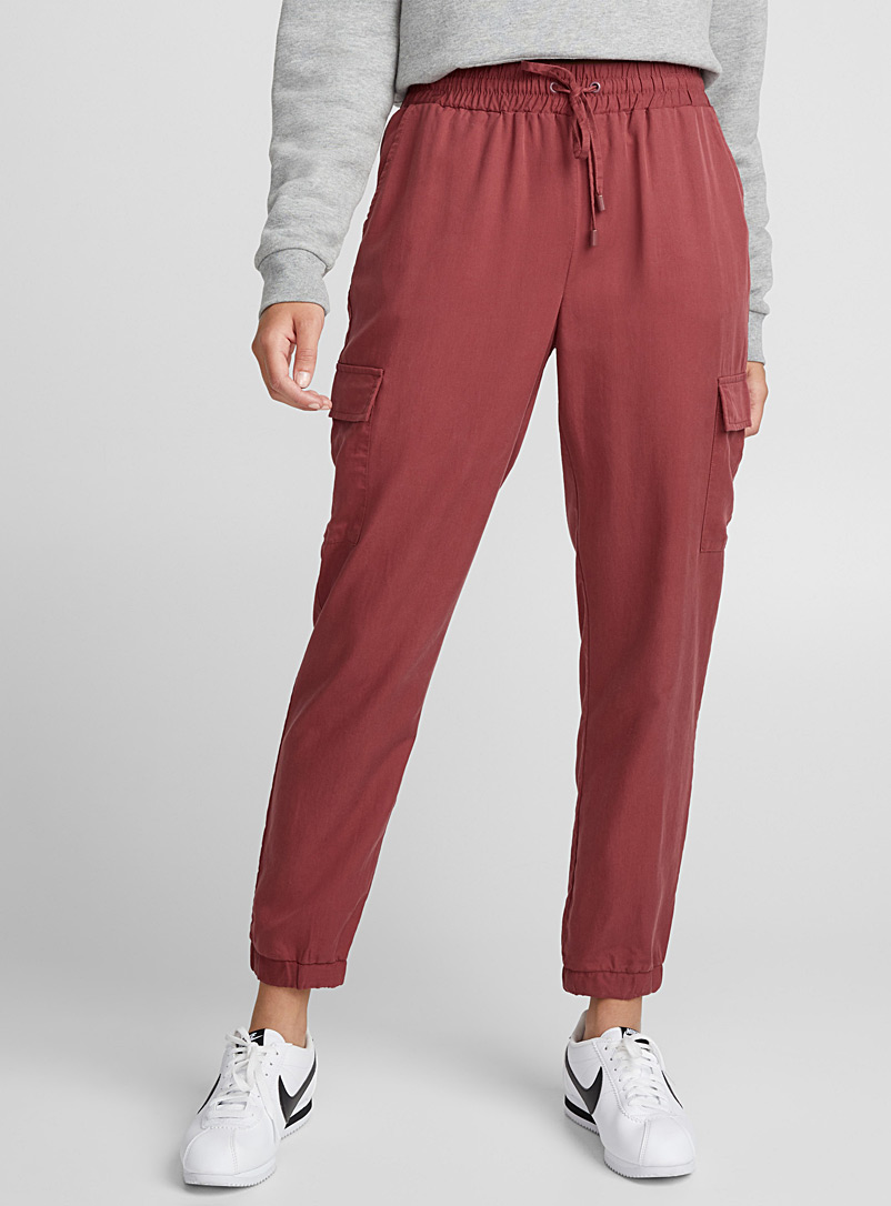 Lyocell cargo joggers - Joggers - Pink