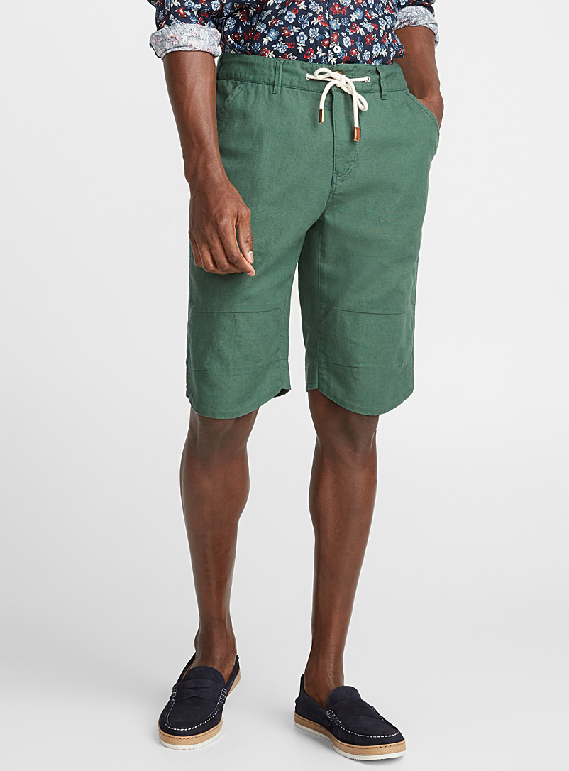 Cotton and linen Bermudas - Bermudas - Green