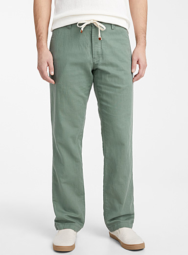 Adjustable waist organic cotton and linen pant  Sydney fit - Straight