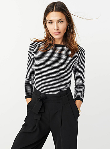 TENCEL modal embossed-squares sweater