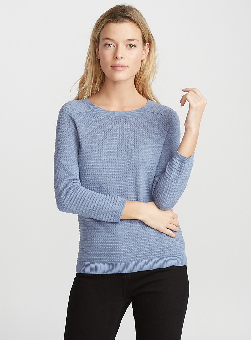 Embossed-squares sweater - Sweaters - Teal