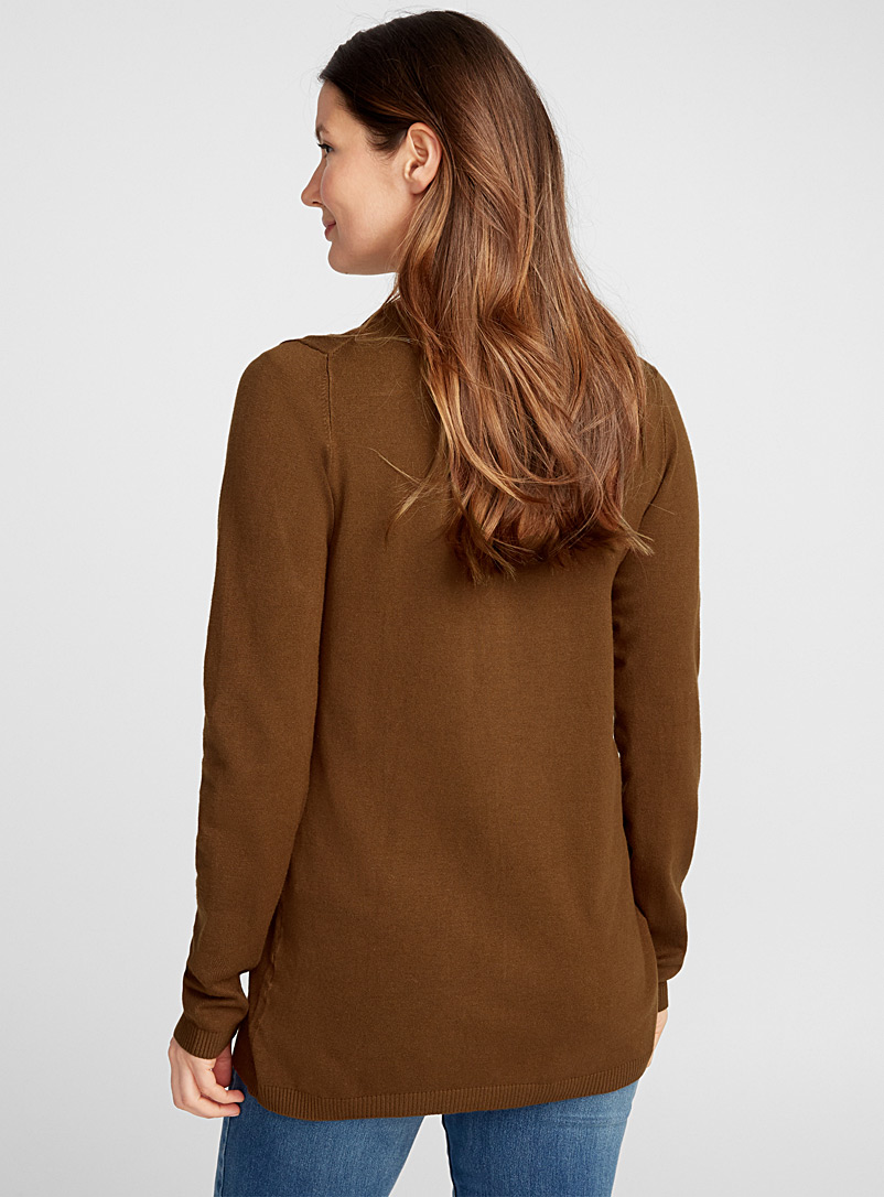 Open-front minimalist cardigan - Cardigans - Brown