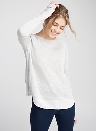 2-in-1 fooler sweater