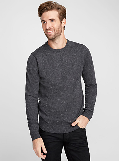 Flecked crew-neck sweater