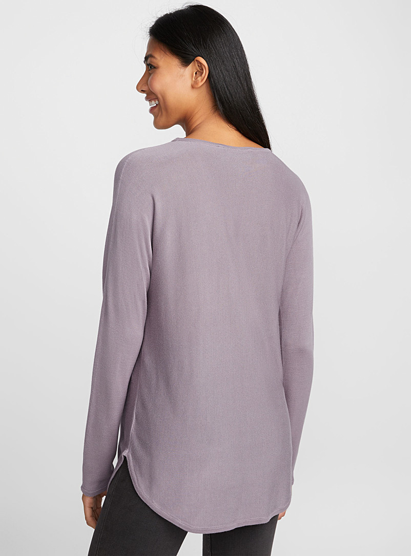 Rounded-hem knit tunic - Sweaters - Lilacs