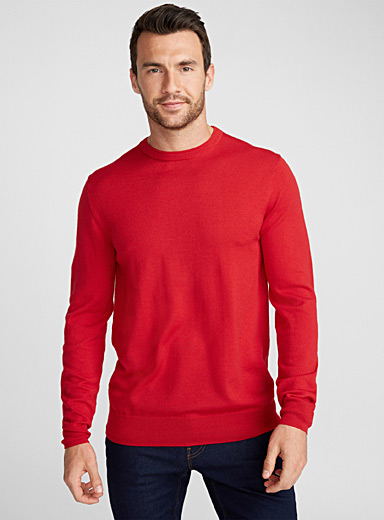 Le pull laine mérinos col rond