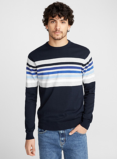 Le pull bloc rayures