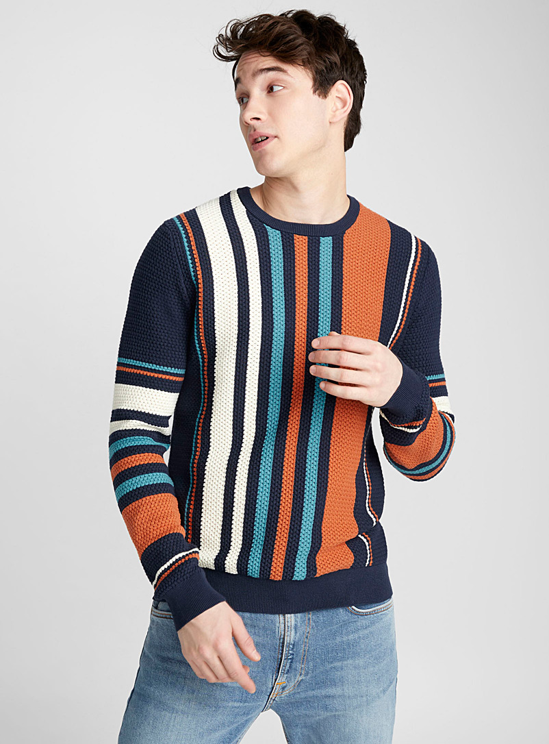 striped-basketweave-knit-sweater