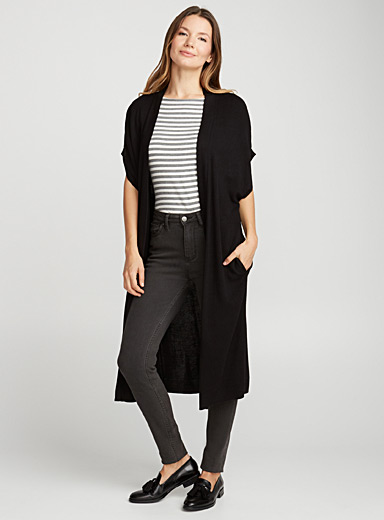 Le long cardigan cape