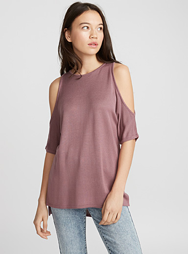 Viscose cold shoulder sweater