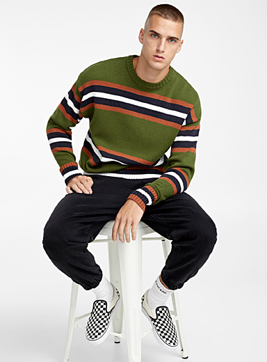 Symmetric stripe sweater