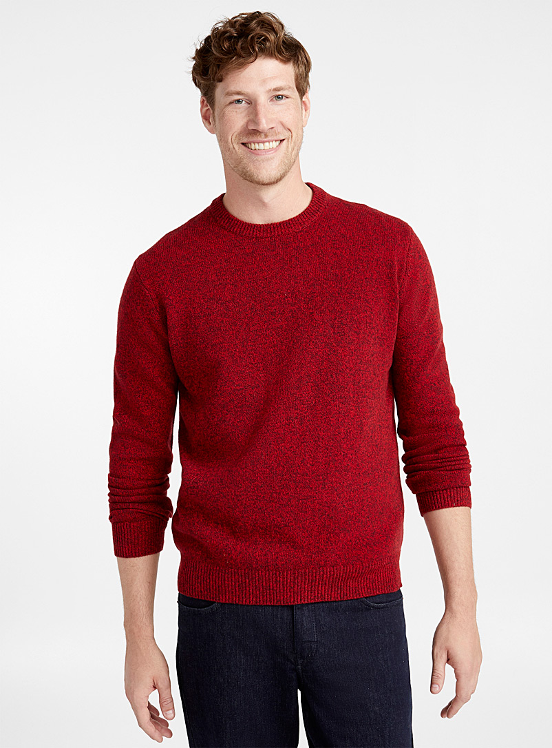 Crew neck lambswool sweater - Lambswool - Cherry Red