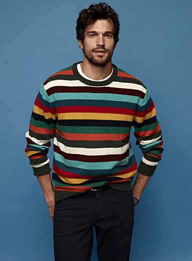 Multicolour stripe sweater