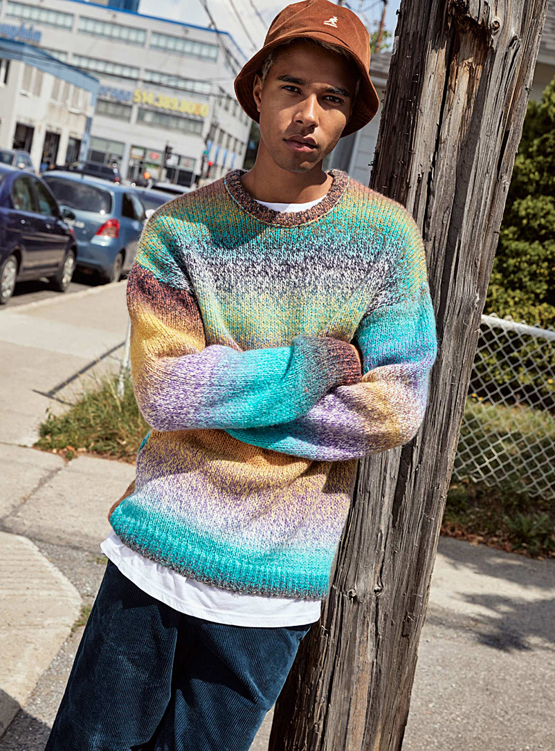 Space dyed knit sweater - Crew necks - Assorted