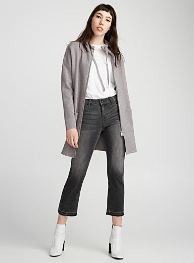 Le cardigan allongé zip