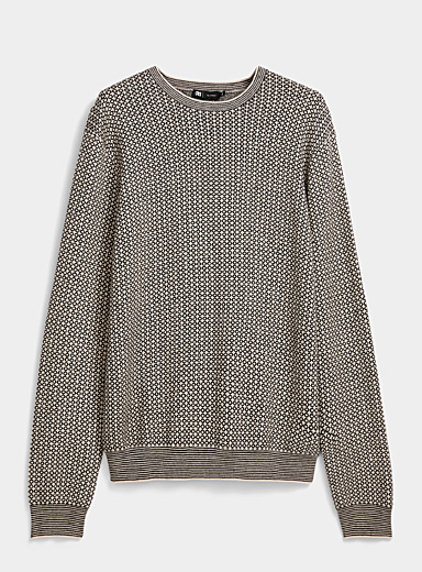 Modal and cotton jacquard sweater