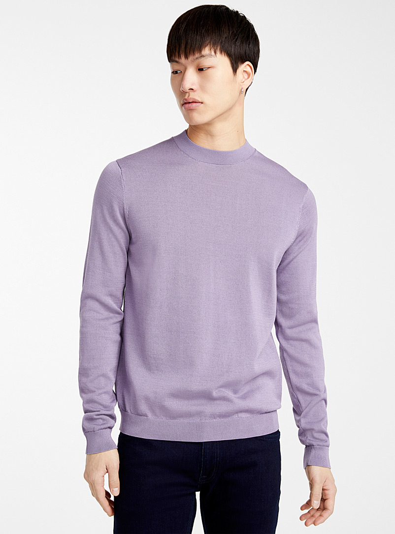 Le 31 Lilacs Mercerized knit sweater for men