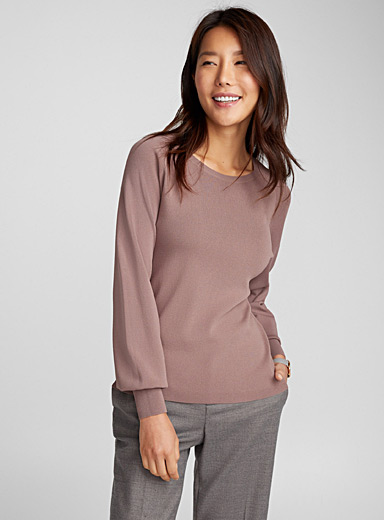 Puff-sleeve sweater