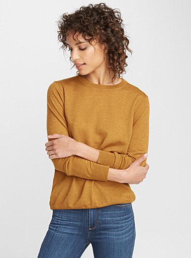 Le pull col rond laine mérinos