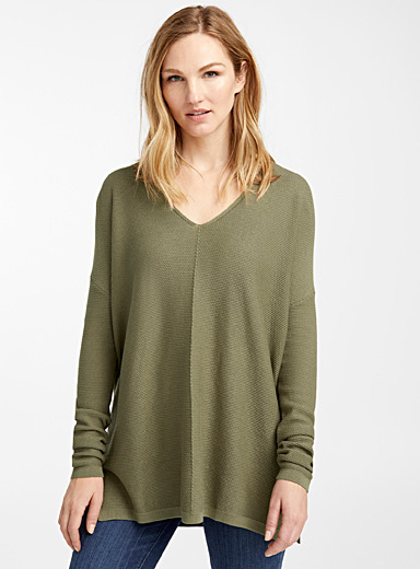 TENCEL modal textured knit tunic