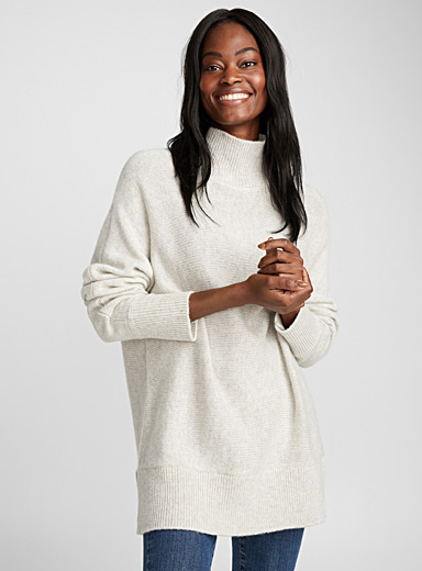 Oversized mock-neck sweater