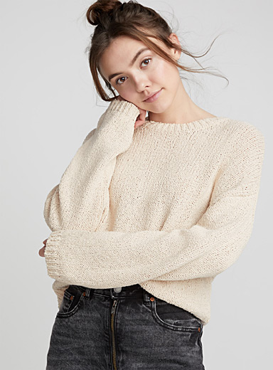Le pull tricot ratine