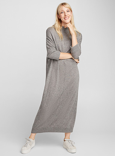 Cashmere-blend sweater dress