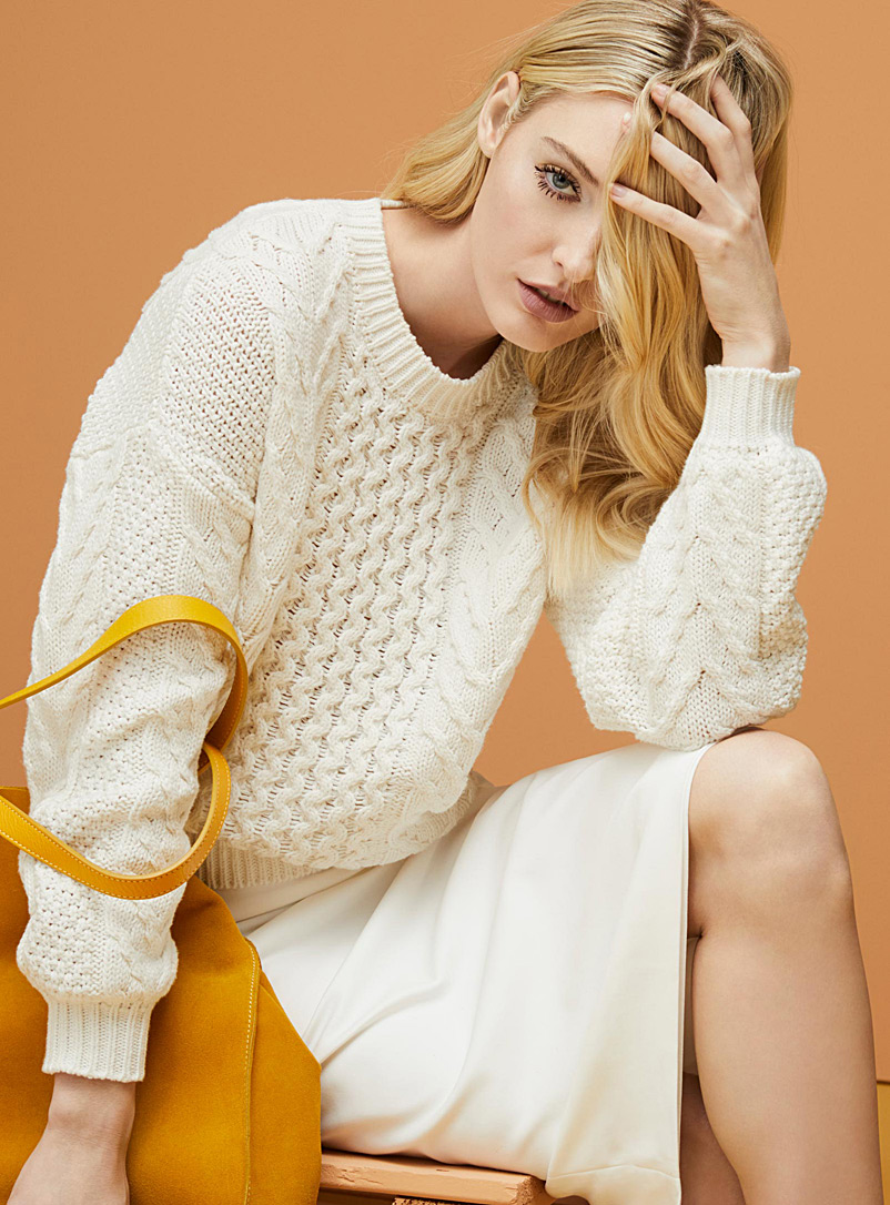 Wave-and-braid sweater - Sweaters