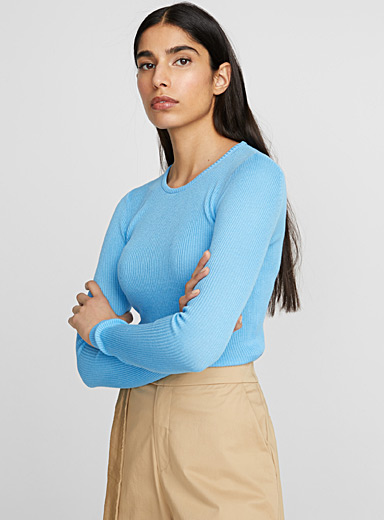 Cotton-modal ribbed sweater