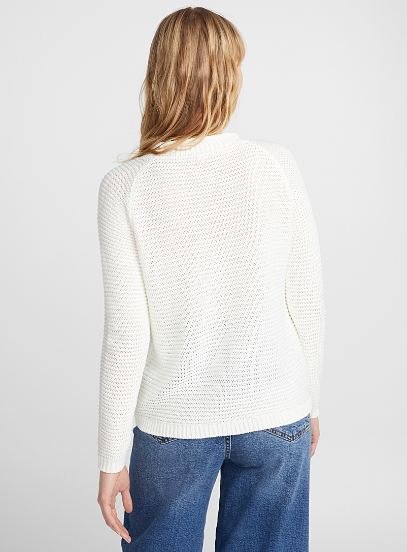 Wavy ribbed sweater - Sweaters - Ivory White