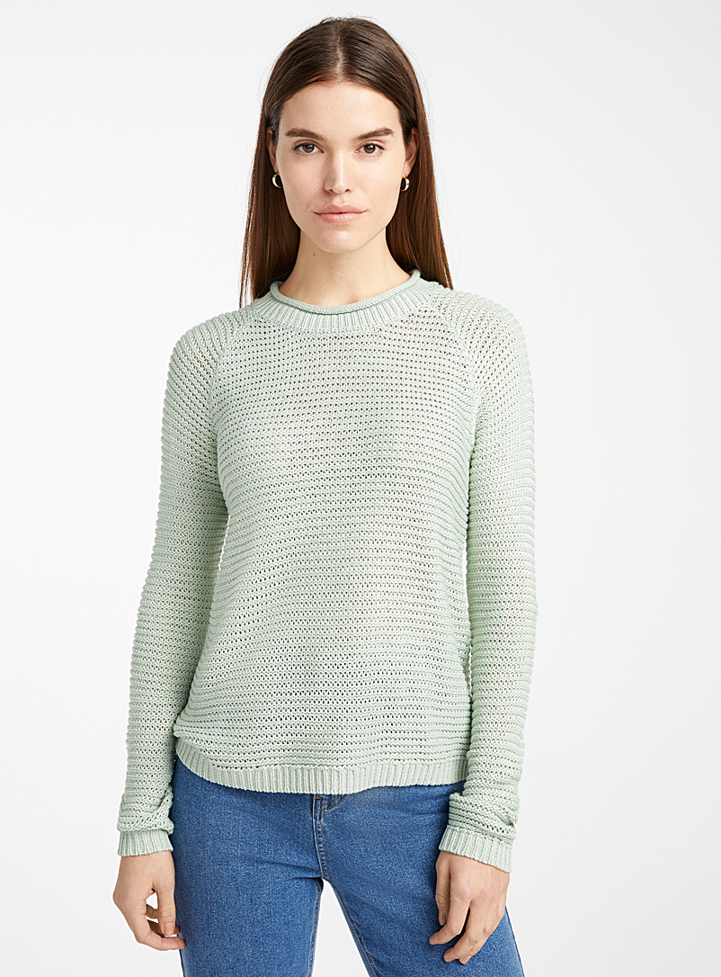 Wavy ribbed sweater - Sweaters - Lime Green