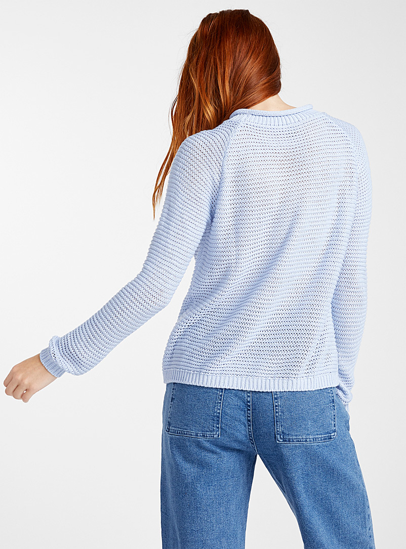 Wavy ribbed sweater - Sweaters - Blue