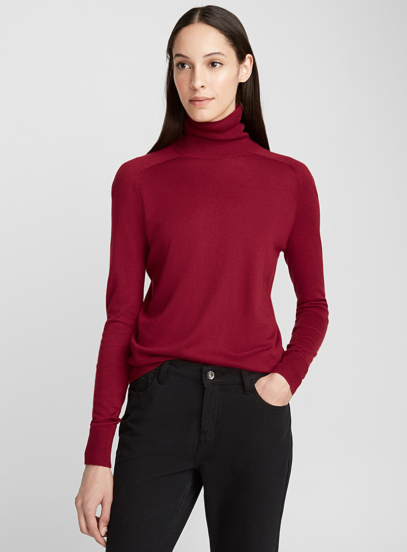 Essential turtleneck sweater - Sweaters - Ruby Red