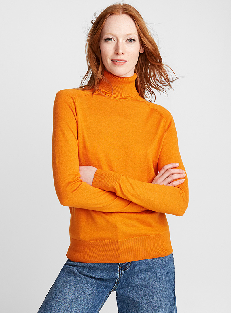 Le pull col roulé essentiel - Pulls - Orange