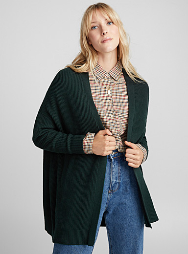 Wool-cotton cardigan