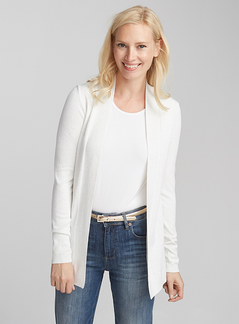 Contemporaine Black Minimalist open cardigan for women