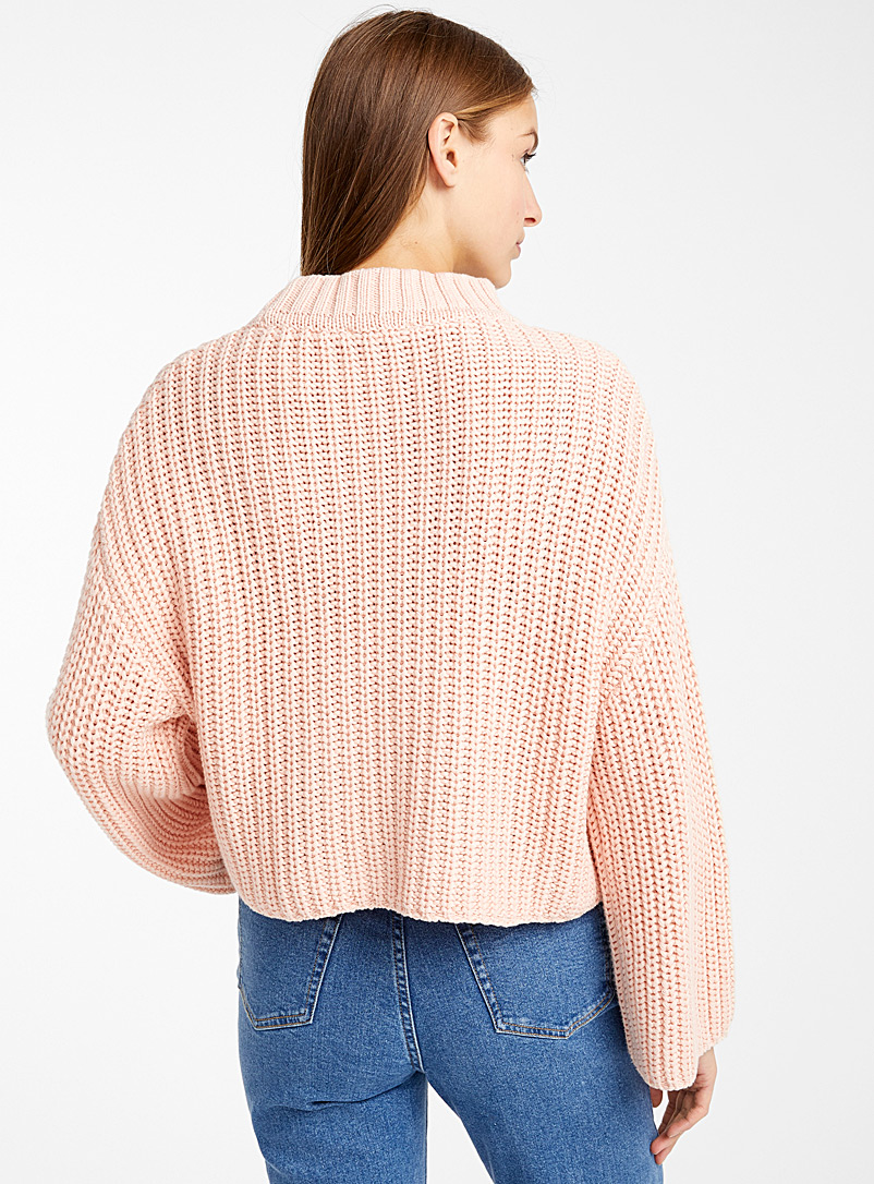 Organic cotton mini-braid sweater - Sweaters - Dusky Pink
