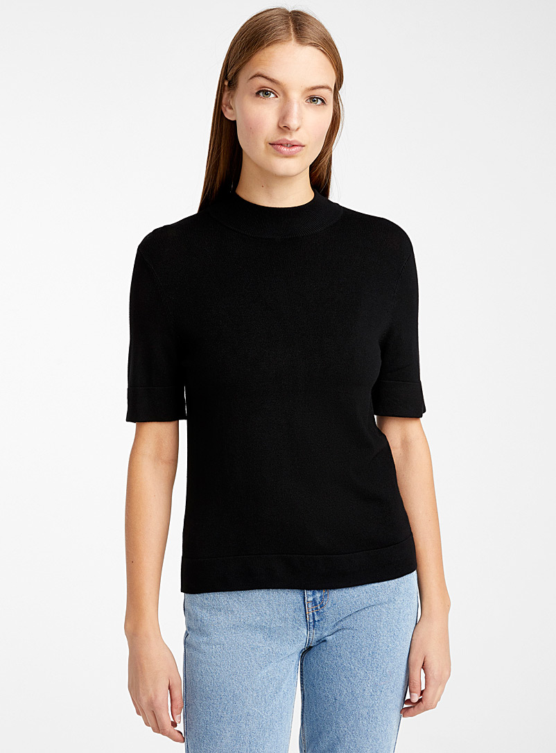 half-sleeve-high-neck-sweater