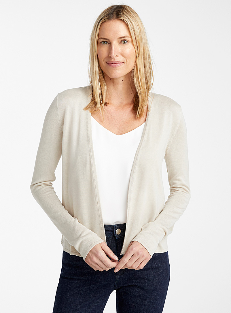 Contemporaine Sand Lightweight open cardigan for women