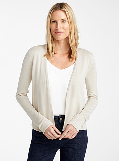 Lightweight open cardigan