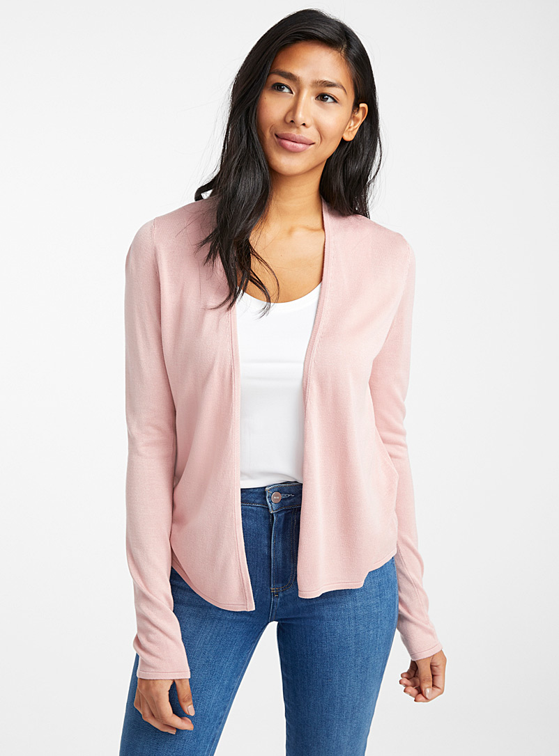 Contemporaine Pink Lightweight open cardigan for women