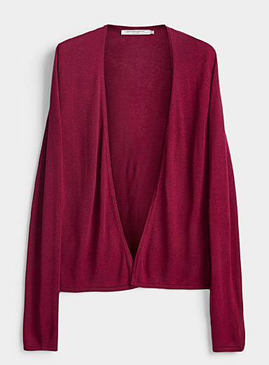 Contemporaine Medium Pink Lightweight open cardigan for women