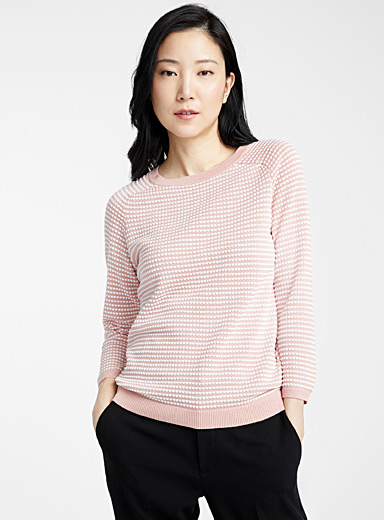 Embossed-squares sweater