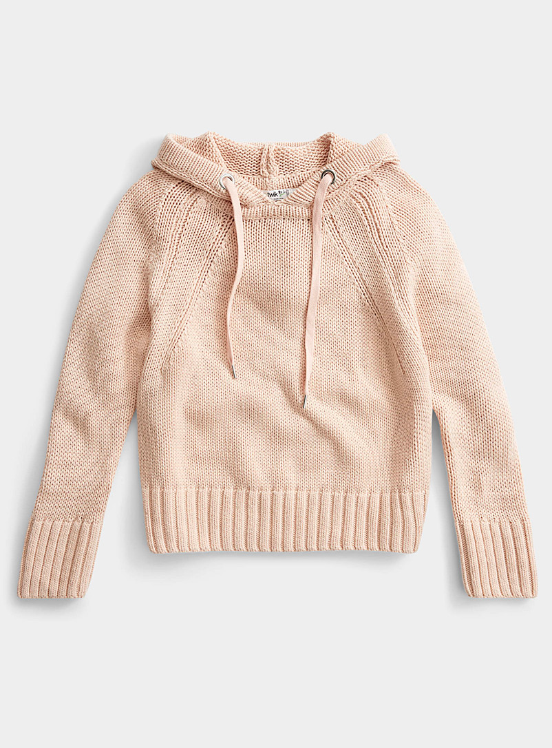 Twik Dusky Pink Organic cotton cropped sweatshirt sweater for women