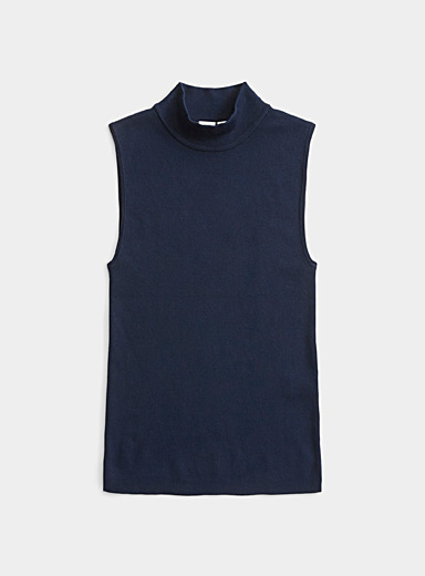 Fitted mock neck cami