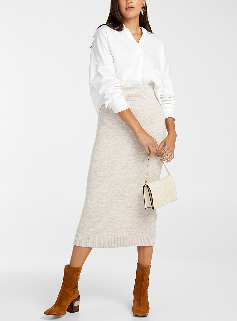 Icône Sand Knit midi skirt for women