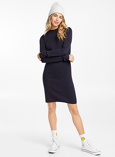 Twik Blue Fine knit dress for women